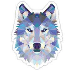 Game Of Thrones Polygonal Dire Wolf | RedBubble Sticker Available @redbubble