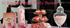 50 Home Birthday Party Themes.  Great list of links to party ideas for boys and girls.