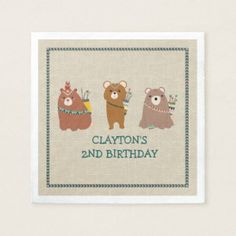 Fun and Festive Bear Party Poster - kids birthday party gift idea child Cowboy Birthday Party, Fairy Birthday Party, Kids Birthday Gifts, Bear Birthday, Kids Gifts, Birthday Diy, Birthday Ideas, Fun Gifts, Baby Shower Napkins
