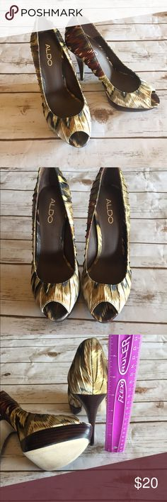 ALDO Heels Beautiful Aldo Heels that have been worn a few times. Good condition. Size 9 but fits like size 8-8.5. Does not include original box. Aldo Shoes Heels