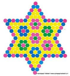 Experimenting with patterns for lite brite Spring ornament perler bead pattern