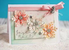 Lovely water colored card using Joy Clair stamps!