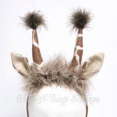 A personal favorite from my Etsy shop https://www.etsy.com/listing/515955068/giraffe-headband-giraffe-costume-ears