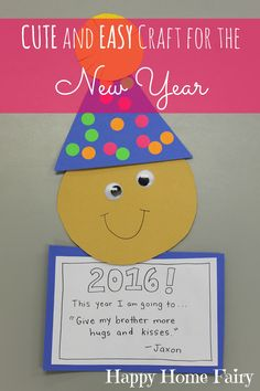 A super cute and easy craft for the new year! I love this!