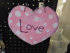 All you need is LOVE.  Hand painted sign.