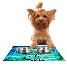 "Kess InHouse Ebi Emporium ""Take Me to The Sea"" Aqua Glitter Feeding Mat for Pet Bowl, 24 by 15-Inch Kess InHouse http://www.amazon.com/dp/B00K3G4WH8/ref=cm_sw_r_pi_dp_JxWywb0NGZAPY"