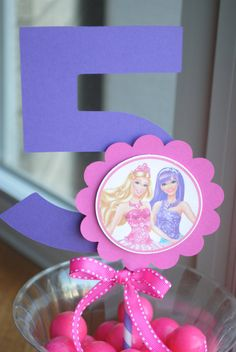 NEW  Barbie and Popstar Centerpiece with Age Choice of by mlf465, $5.50
