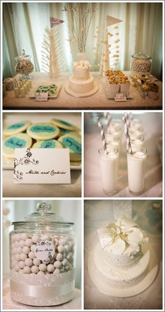 cake and dessert table - detail photos
