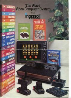 beatnikdaddio:1980. #videogamedevices #video #game #devices Atari Video Games, Computer Video Games, New Video Games, Classic Video Games, Vintage Video Games, Retro Video Games, Vintage Games, Retro Games, Vintage Toys
