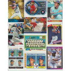 HUGE 800 Different Baseball RANGERS cards lot 1970 - 2016 RYAN Darvish Profar