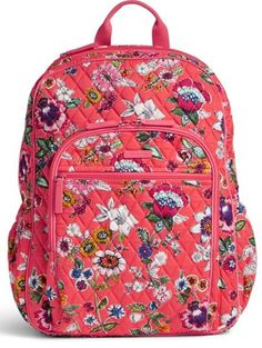 Image of Campus Tech Backpack in Coral Floral Mesh Backpack, Floral Backpack, Vera Bradley Handbags, Vera Bradley Backpack, Vera Bradley Purses, Pretty Backpacks, Mini Mochila, Custom Purses, Trolley Bags