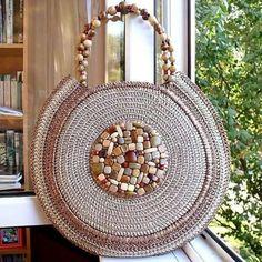 bolsa sofisticada de crochet