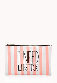 I Need Lipstick Small Cosmetic Pouch