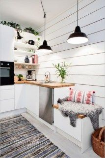 Awesome Scandinavian Kitchen Interior Idea 43