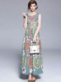 56ba6d915d Dresses | Maxi Dresses | Floral Print Sleeveless Oversize Maxi Dress  Textiles, Fashion Online,
