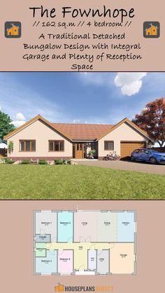 Garage Bedroom, New Home Construction, Modern House Design, House Plans, Floor Plans, Cottage, Exterior, Traditional, Bungalow Designs