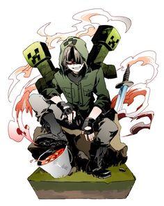 Cute Anime Character, Game Character, Satsuriku No Tenshi, Minecraft Art, Cute Anime Chibi, Manga Games, Creepers, Game Art, Anime Characters