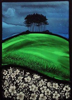 I love the feel of this and it reminds of the Wiltshire hills and the Plain. (Gloucestershire Guild of Craftsmen- Stained Glass Artist Annie Rie) Modern Stained Glass, Stained Glass Paint, Stained Glass Designs, Stained Glass Panels, Stained Glass Projects, Stained Glass Patterns, Leaded Glass, Mosaic Glass, Glass Art