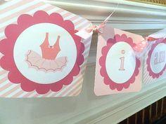 Tutu Cute - Ballerina Birthday- Ballerina High Chair Banner -Ballerina  Birthday Party on Etsy, $15.00