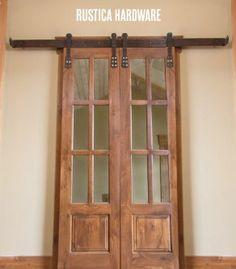Interior barn door kit with glass panel interior barn door for Barn doors las vegas
