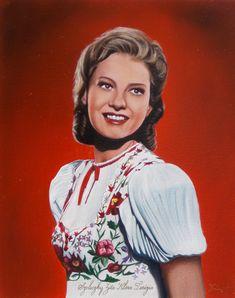 Szeleczky Zita Klára Terézia magyar színművésznő 40 x 50 cm-es olajfestmény Ruffle Blouse, History, Film, Homeland, Women, Art, Style, Fashion, Celebs