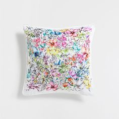 MULTICOLOR FLORAL CUSHION