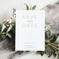 An elegant + minimalist save the date wedding printable. Save The Date Wedding, Diy Save The Dates, Save The Date Cards, Wedding Guest Book, Fall Wedding, Wedding Ideas, Wedding Venues, Save The Date Ideas, Save The Date Fonts