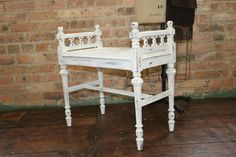French Antique Shabby Chic Bench by thevintagewife on Etsy