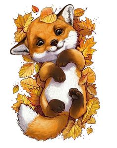 Fox Drawing Easy, Easy Drawings, Animal Art Projects, Cute Kawaii Animals, Paint By Number Kits, Bear Cartoon, Fox Art, Cross Paintings, Animal Paintings