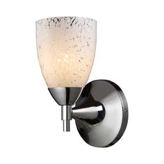 ELK Celina 1-Light Sconce in Polished Chrome and Snow White