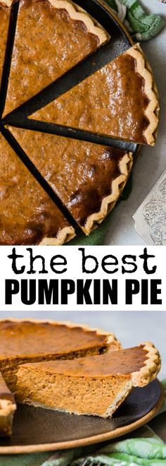 The Best Pumpkin Pie is the one that's easiest to make! Start with a store-bought crust, whisk together a tasty filling, and bake to pumpkin pie perfection. Pumpkin Dessert, Pie Dessert, Dessert Recipes, Best Pumpkin Pie Recipe, Pumpkin Recipes, Perfect Pumpkin Pie, Pumkin Pie, Just Desserts, Delicious Desserts