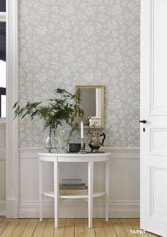 art deco home decor Swedish Wallpaper, Home Wallpaper, Hallway Wallpaper, Dining Room Wallpaper, Cosy Living, Living Room, Decor Room, Wall Decor, Home Decoracion