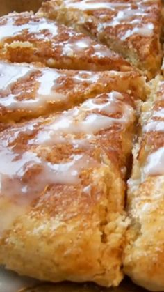 These Cinnamon Glazed Scones will be the BEST you've ever tasted -- flaky, soft and beautifully delicious! Apple Recipes, Baking Recipes, Scone Recipes, Easter Recipes, Breakfast Recipes, Dessert Recipes, Desserts, Breakfast Scones, Fudge