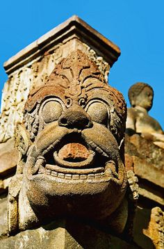 Borobudur Water Spout Detail - Java, Indonesia
