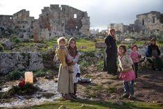 Campamento de refugiados sirios en la ciudad romana de Serjilla, en Siria. 2013