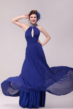 Chiffon Halter Modern Prom Dresses - Order Link: http://www.theweddingdresses.com/chiffon-halter-modern-prom-dresses-twdn2432.html - Embellishments: Beading , Draped; Length: Floor Length; Fabric: Chiffon; Waist: Natural - Price: 166.91USD
