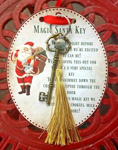 Magic Santa Key how-to and FREE printable - Love the overall design, but not crazy about the poem. Christmas Eve Box For Kids, Christmas Things To Do, Christmas Crafts To Sell, Christmas Crafts For Gifts, Christmas Makes, Diy Christmas Ornaments, Christmas Projects, Christmas Fun, Poems About Christmas