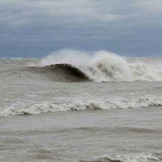 sandy swell on lake michigan