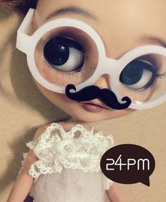 My Mustache   White Glasses by 24PM on Etsy