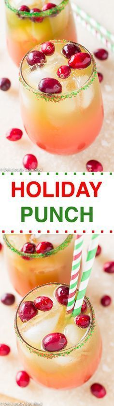 A delicious and easy to make Holiday Punch Recipe! It was a HUGE HIT at our Christmas party, everyone loved it! #christmasrecipes #holidaypartyideas #holidayrecipes #thanksgivingrecipes #holidaypunch