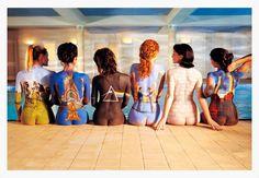 Quadro Poster com Moldura Branca Pink Floyd Back Catalogue 94x64cm - Decore Pronto