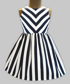 Look what I found on #zulily! Navy & White Stripe Shanaya Dress - Infant, Toddler & Girls #zulilyfinds