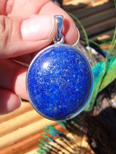 ~Sprinkles of Golden Pyrite~Celestial Blue Lapis Lazuli Pendant~  NEW On our WEBSITE HERE: