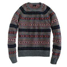 Lambswool Inverness Fair Isle sweater. Gotta love sweaters