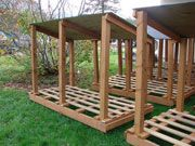 Image of modular wood shed - Link to Plans and Materials list, from Energy.gov