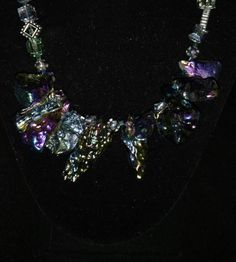 Crystal Cubes and Druzy Necklace by KarinsForgottenTreas on Etsy