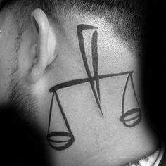 50 creative libra tattoo designs for guys# spiritualtattoos Movie Tattoos, Key Tattoos, Pin Up Tattoos, Skull Tattoos, Foot Tattoos, Unique Tattoos, Body Art Tattoos, Sleeve Tattoos, Tattoos For Guys