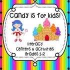 Candy Themed Literacy Centers Grades 1-2 Freebie