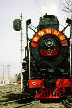 Image detail for -Steam train on a railroad track, Beijing, China