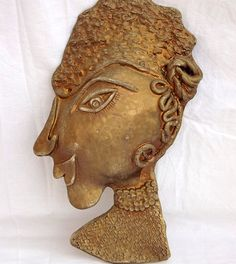 Terracotta Wall Sculpture-Woman relief wall by ceramicsbyLucy Wall Sculptures, Lion Sculpture, Ceramic Artists, Terracotta, Most Beautiful, Ceramics, Statue, Woman, Portrait
